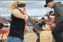 Be The Boss Competition / We hosted our Be The Boss competition in October. It featured college woodsmen, ages 18-23. About 30 competitors showed up to compete in our lumberjack competition.   Check out this photos on our website http://www.hud-son.com/resources/testimonials-1/be-the-boss-event