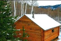 """Dennis Georg, Montana / Dennis Georg built this cabin with his buddy and grandson in Butte, MT. The saw worked great! He says, """"Not bad for a couple of 68-year-old retired electrians! We got the cabin done in just one summer. The only mechanical equipment we had was my Hud-Son saw, chainsaws, come-alongs, hydraulic engine hoist and my Arctic Cat 4-wheeler. ALL IN ALL THE SAW WORKED GREAT!"""""""