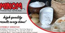Minom / Learn more about our Premium Flour Tortilla Base, Minom! All Ingredients are U.S.D.A. Approved! www.minom.com