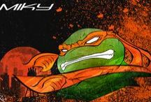 TMNT Ninja Turtles / Waiting for the movie to come out in September, here are my illustrations on the Ninja Turtles.  My favorite cartoon from when I was little.  Enjoy ..  Rix