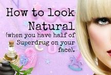 How to look like you are not wearing any make-up (when you have half of Superdug on your face) / This is a board for NATURAL alternatives to make-up and techniques for natural looking beauty. From nails to face, body to hair.