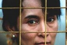 Aung San Suu Kyi / Noble prize winner and Burmese advocate for democracy in Myanmar. 15 years under house arrest under force by the military junta.  / by Isabella Snowflake