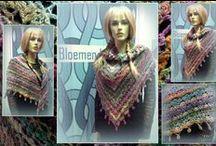 Shawls / omslagdoeken  gehaakt door klanten / Shawls / omslagdoeken  gehaakt door klanten van bloemendalwol  tags: haken shawls omslagdoeken