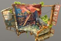Environment Art / Environment art from Present Day: Concept art, Traditional Art and 3d.