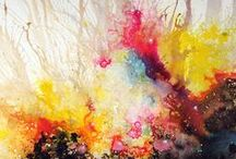 Abstract  acrilic paint