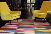 Inspiration colorée / Découvrez nos ambiances déco colorées qui respirent la joie de vivre !  #tapis #multicolore #couleur #coloré #déco