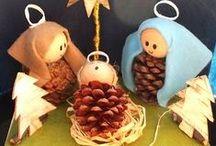 Nativity diy. Presepi fai da te.