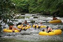 Tubing / For chilling thrills on a summer afternoon nothing beats floating down the rapids of a cool mountain stream on a giant inner tube.