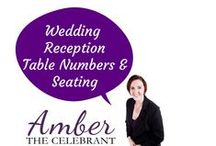 Wedding Reception Table numbers & seating