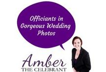 Officiants in gorgeous wedding photos / When l tell couples that l will be standing to the side during the ceremony l explain its because they don't want me in all their photos. Their first kiss, exchanging rings and vows should be the couple and the bridal party, not me. :) www.amberthecelebrant.com