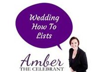 Wedding How To Lists