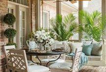 Porch & Patio Love... / #porchdecor #porchideas #porchDIY  #patio #outdoorspaces