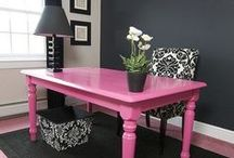 Craft Room/Office / #decor #ideas #office #craftroom #study