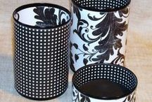 Re-purposing Cans, bottles & Jars. / #DIY #upcycling #repurposing #howto #crafts