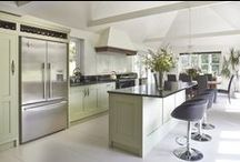 Contemporary Kitchen / The brief for this renowned architect and his wife was to create a beautiful, understated design for a large room with wonderful proportions. The compact cooking space is shielded by a generous island which can seat people on the far side. This area provides a place from where everything from drinks, elegant canapés or a hearty country breakfast can be enjoyed. Everything is within reach and friends can feel involved but don't encroach on the preparation area.