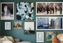Wall art / A collection of art, to inspire you to create your own art walls, style your home, and enjoy your own personal art gallery. There are some great artists and art walls out there, hope you enjoy them too.