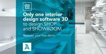 ArredoCAD shop & showroom / Only one interior design #software 3D to design  ____ SHOP and SHOWROOM ____ Request your free demo   #interiordesign #design #arredocad #3d #shop #showroom #project #architecture #interior #cad #render #360