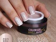 Unghii cu Brush&Go Color Gel / Incearca si Tu gelurile colorate BrillBird de aici http://goo.gl/HYrDjn