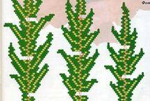 Цветы - листики (схемы, мк)