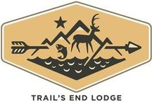 Trail's End Lodge / Knotty pines, fishing from the dock, and conversation around a campfire; bring it all inside with our line of lodge-inspired products.