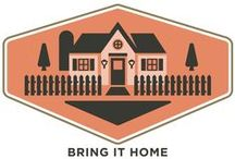 """Bring It Home / Treat yourself and your guests to warmth and inspiration every time the front door opens with products that say, """"welcome home!"""""""