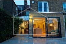Klauber side and rear separate extensions / Due to the Lambeth restrictions we were unable to create a wrap-a-round kitchen extension. We therefore creatively created two separate extensions to the kitchen. Each with its own distinctive separate style and effect.