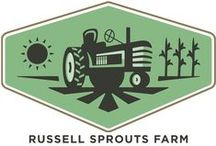 Russell Sprouts Farm / Work, work, all day long, from dusk 'til dawn is life on the farm. Let the harvest begin with our line of farm-inspired products.