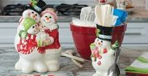A Whimsical Christmas / Adorn your countertops, tables, and even your mantel with some whimsical holiday glee for all to see! Delightful Christmas Snowmen and Jolly Santa's will brighten your Holiday.