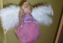 Needle felted waldorf dolls and fairies