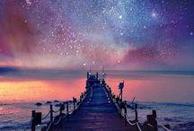 Stars above nature