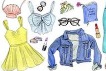 ✎ Princess Outfit Illustrations / What would princesses wear if they weren't wearing their gowns?