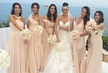 BRIDAL / Nude and blush wedding dresses in neutral shades of beige and pale pink. Set yourself apart on your wedding day and go nude! Psss, it's a lot easier to look your best in softly colored bridal gowns than in bright white! #fashion #style / by NUDEVOTION