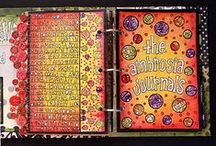 Art Journals / (covers for journals including:  collage and multi-media; zentangle and other free hand designs)