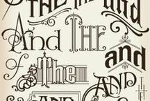 Calligraphy and other lettering
