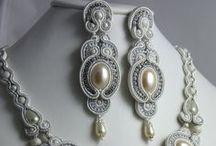 Bridal soutache jewellery / Menyasszonyi sújtás ékszerek
