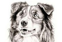 My Work* Pencil Pet Portraits / Pencil Pet Portraits. Custom Pet Portraits. Pencil Animal Portrait from Photo. Elena Romanova Pet Art. www.7portraits.com 7 portraits