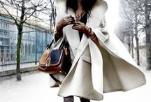 Style | Winter / Winter Fasion:  Coats. Thick Sweaters. Lots of layers. Chunky scarves. Dark colours.