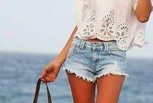 Style | Summer / Summer Style: Mini skirts. Shorts. Colourful. Little layering. Beachwear. Skin.