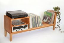 Vinyl storage / Design shelf and vintage