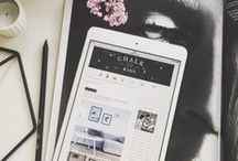 The aesthetic side of blogging / moodboards, themes, fonts and flatlays