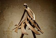 Moving Metal Sculpture / Forged metal artistic works.
