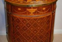Marquetry Furniture / Inlaid work made from small pieces of variously colored wood or other materials. / by Kathy Fox-Lee
