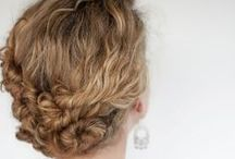Hairstyles / Even though I have curly hair, I am trying these simple hairstyles anyway. :)