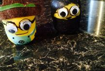 Kinder egg shell crafts