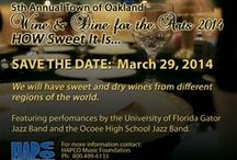 Town of Oakland's Wine and Dine for the ARTS -- HOW SWEET IT IS / Wine and Dine for Arts featuring the University of Florida Gator Jazz Band and the Ocoee High School Jazz Band.  We will have Sweet wines from all over the world.  http://winedineforarts.eventbrite.com/#