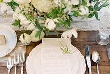 Table settings and favours