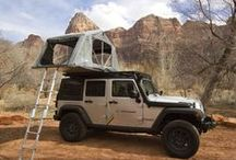 Tents and Awnings with Front Runner Outfitters / You're probably thinking -- a tent on the roof of a car? Really?  With a roof top tent you can sleep comfortably in uneven and rocky terrain - places where sleeping on the ground is either not possible or suitable. And the tents can be configured to open up over the rear of the vehicle, either side, or even over the hood.  #overlanding #glamping #camping #frontrunner #offroad #tent  #awning #roofrack #rooftent #outdoors #funstufftodo