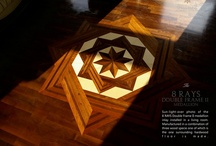 The Hardwood Floor Medallion Inlays / The hardwood floor medallions are decorative elements allowing the aesthetic and in value improvement of the usual wood flooring.