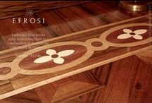 The Hardwood Floor Borders / The hardwood floor borders (or parquet borders). Artisan handcrafted, the borders are used to complement simple to intricate hardwood flooring installations.