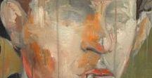 Men. Painting / different men / different painting techniques